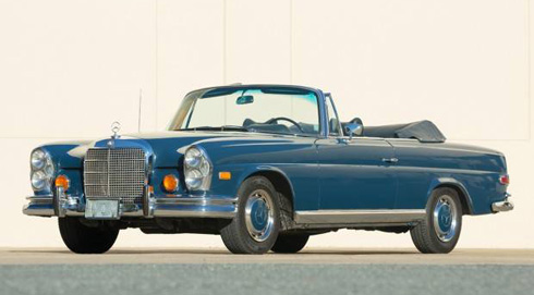 1969 Mercedes 280SE Convertible at Gooding and Company Scottsdale 2018 Mercedes Market-2