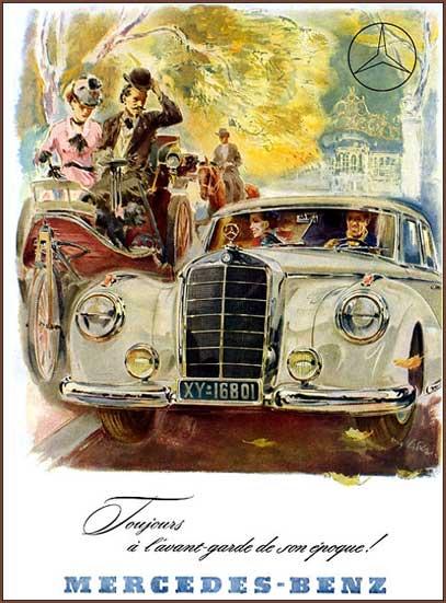 Mercedes-Market-Vintage-Poster-1953