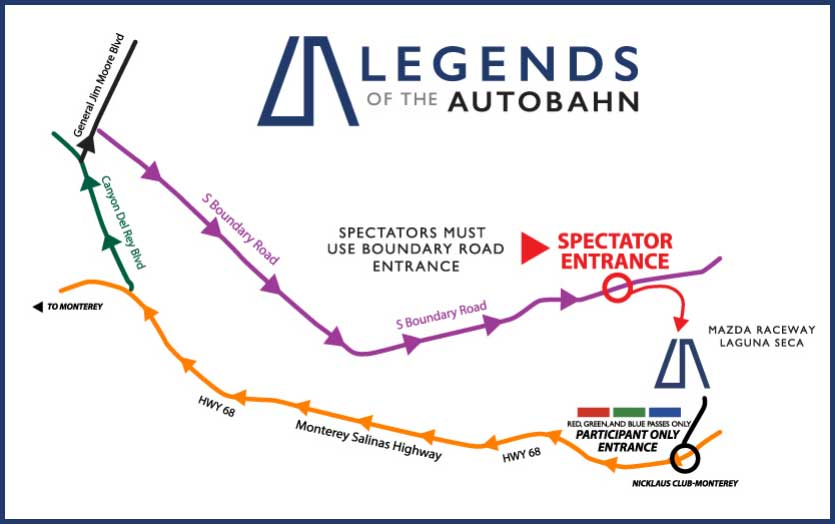 Legends-of-the-Autobahn-Parking-Directions