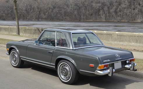 1970 Mercedes 280SL Gray with red MB tex Interior