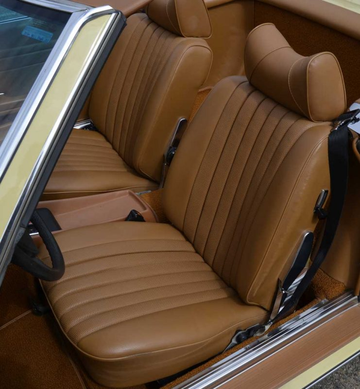 1977 Mercedes 450SL Maple Yellow - MB tex