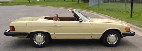 1977 Mercedes 450SL Maple Yellow