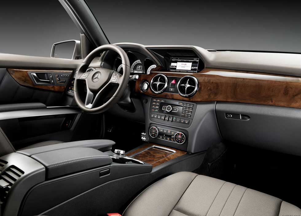 2014-Mercedes-GLK350-Black-leather-burl-walnut-wood-interior-Mercedes-Market
