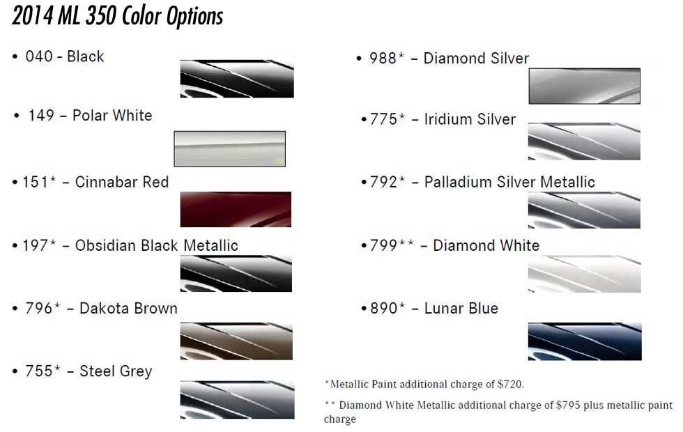 2014-Mercedes-ML350-Paint-Color-Options