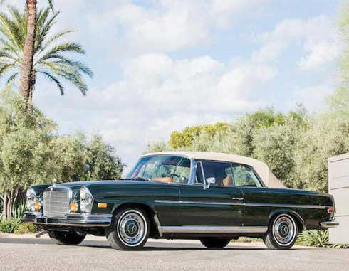 Bonhams-Auction-Scottsdale-2018-Mercedes-280SE-Convertible-Dark-Olive-1