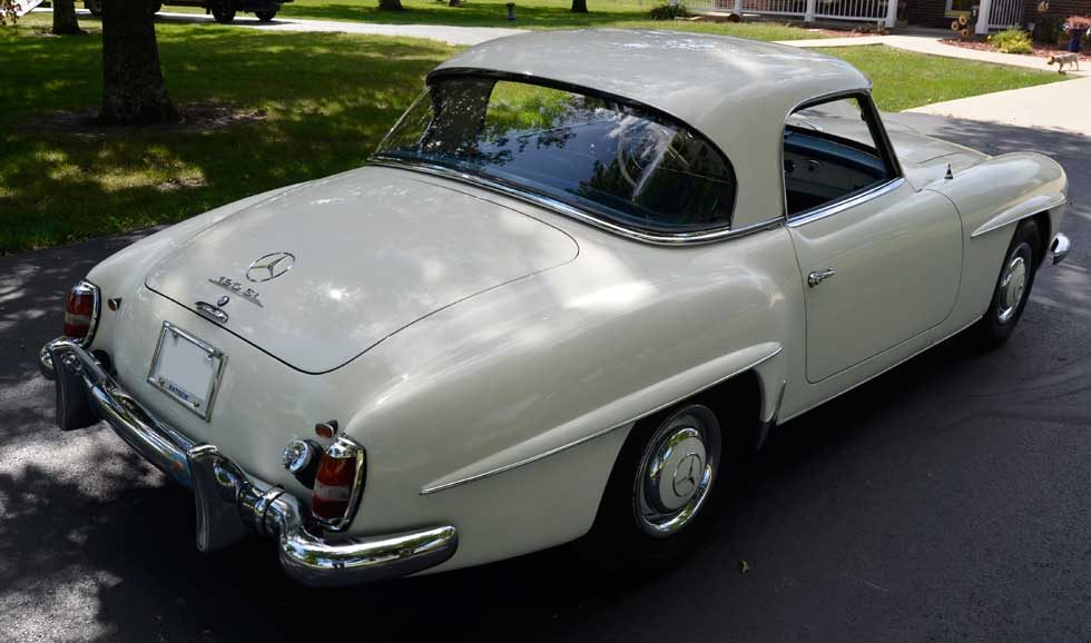 Mercedes 190SL hard top big window