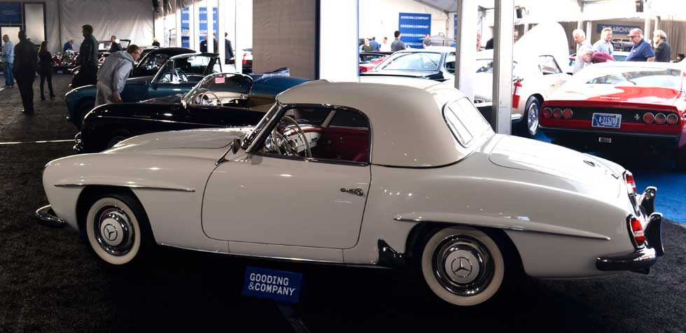 Mercedes 190SL Hard Top Small Window