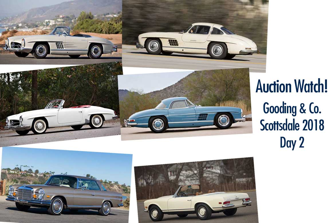 Collectible Mercedes At Gooding And Company Scottsdale 2018 Day 2 Saay January 20
