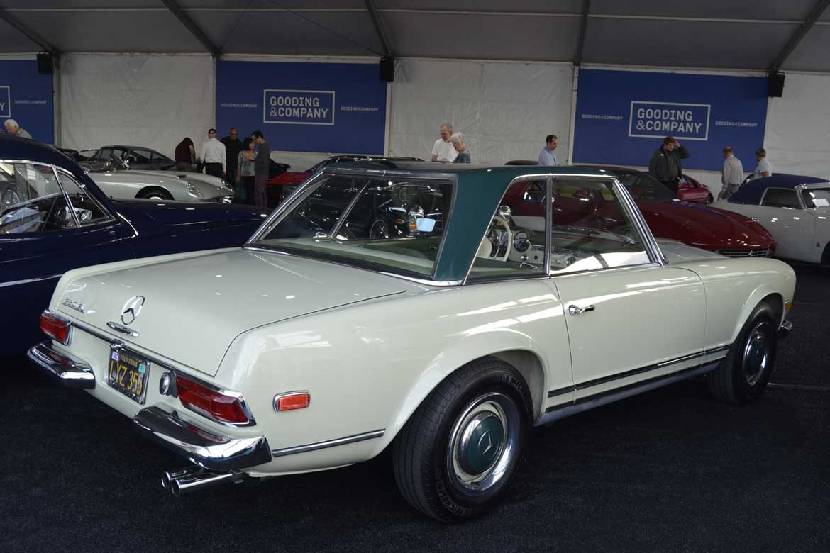 Mercedes 250 Sl Charms In Two Tone Paint Scheme At Gooding And Co Scottsdale 2018