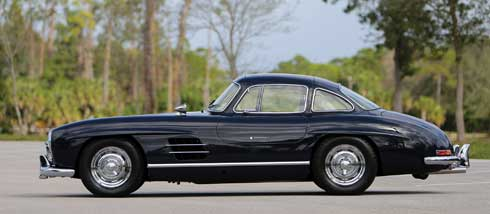 1956-Mercedes-Benz-300-SL-Gullwing-2014-Mercedes-Benz-SLS-AMG-Black-Series-Coupe Mercedes Market Auction Preview Amelia Island