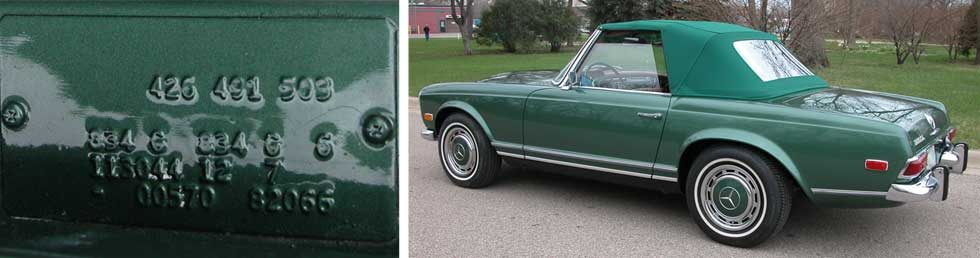 Mercedes-Paint-Color-834-Moss-Green-Poly-Mercedes-Benz-Paint-Color-Library-Project-Mercedes-Market