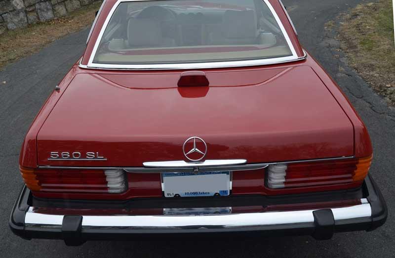 Mercedes Trunk Strap Spare Tire 560SL R107 - 2