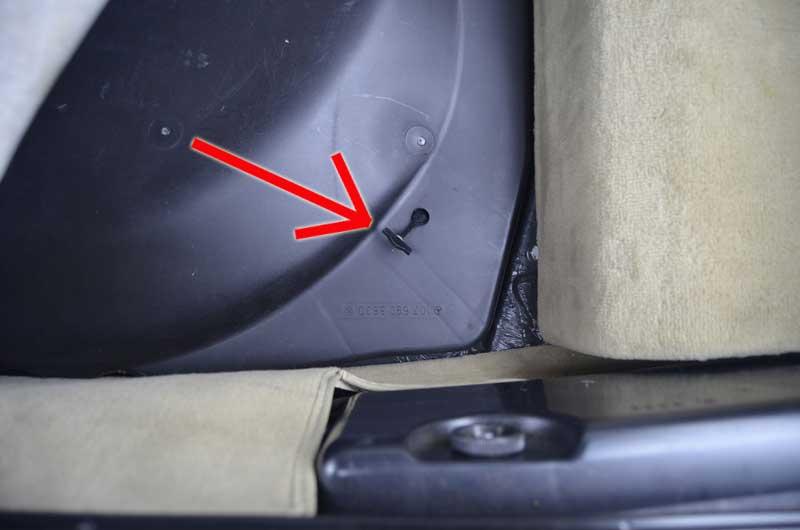 Mercedes Trunk Strap Spare Tire 560SL R107