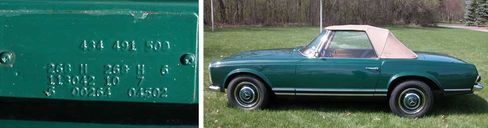 268-Dark-Green-Mercedes-Paint-Color-1966-230SL