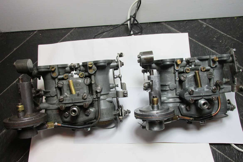 Rebuilt 190SL Solex Carburetors For Sale - 44 PHH for 190 SL W121