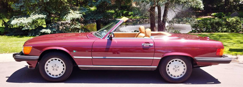 1988-Mercedes-560SL-For-Sale-Mercedes-Market-Cabernet-Red-Metallic