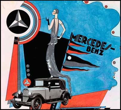 Mercedes-Market-Vintage-Mercedes-Advertising-Poster