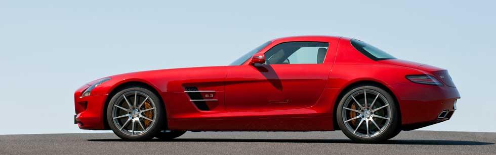 Mercedes-SLS-AMG-History-Mercedes-Market-Gullwing-Doors-Red