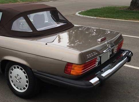 1989-Mercedes-R107-560-SL-Bumper-rear