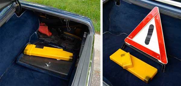 Mercedes-R107-Euro-500SL-Emergency-Warning-Triangle