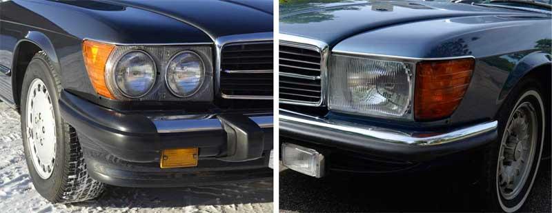 Mercedes-R107-Euro-500SL-and-560SL-Mercedes-Market-Euro-Head-Lights