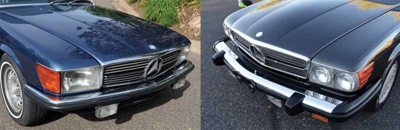 Mercedes-R107-Euro-500SL-and-560SL-Mercedes-Market-Euro-bumpers-headlights