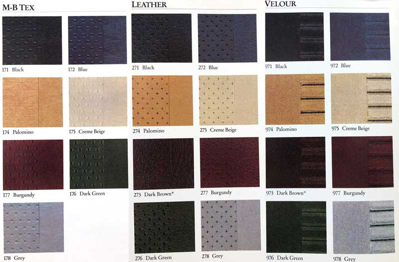 1986-Mercedes-Interior-Color-Material-Options